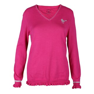 girls golf sweater basic pink